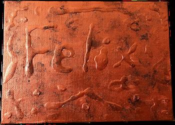 Rusty Bronze Sign
